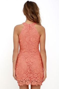 Love Poem Coral Orange Lace Dress 4