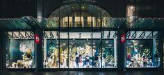 Christmas decoration shopwindows @ Kastner & Öhler fashion department store Graz Shops, Visual Merchandising, Fair Grounds, Christmas Decorations, Windows, Fun, Painting, Travel, Store Windows
