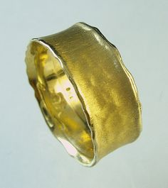 mens wedding band, Woman Wedding Bands,solid gold ring, Recycled gold, Made To Order  ring on Etsy, $266.00