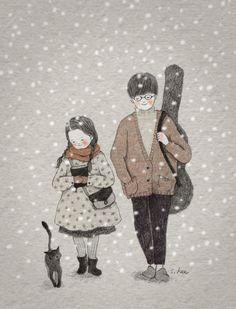 """왠지 모를 설레임이 가벼운 열병처럼 번지던 시절... 사춘기 소녀들에겐 저마다의 열정의 대상, """"교회오빠""""들이 있었습니다. 교회오빠는...부드럽고 신사적인 인상에 안경을 썼고,  기타연주에 능하며 노래를 곧잘 불렀지요.. 모든 이들에게 친절해서, 크리스마스 이브 행사 연습 후에는 어린 소녀들을 집까지 바래다주기도 했습니다. 나에게만 주어지는 친절이 아닌 줄은 알지만 교회오빠가 나를 집까지 바래다주던 길...얼마나 가슴이 두근두근거렸었는지...... 집으로 가는 길이 이대로 쭈욱 계속되었으면..하고 바라던 일들일 생각납니다. 그 시절....어느 잘생긴 배우들보다 더 멋져 보였고  누구보다 더 소녀들의 마음을 설레게 하던 교회오빠들.... 지금은 어디서 무얼 하고 있을까요?...."""