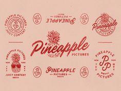 Vintage Graphic Design Pineapple Pictures Branding on Behance - Design Logo, Badge Design, Label Design, Branding Design, Identity Branding, Corporate Design, Brochure Design, Visual Identity, Design Design