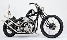 """When it comes to building a bike that is coined traditional, there seems to be a long list of """"dos"""" and """"do nots"""" that go with that term. Stray outside the accepted norm and you may get a result similar to that of T-Bone from Noise Cycles. Harley Davidson Custom Bike, Harley Davidson Panhead, Harley Bobber, Harley Bikes, Custom Bobber, Custom Harleys, Custom Motorcycles, Custom Bikes, Choppers"""