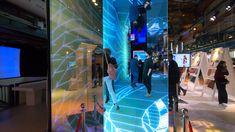 A first-person walk through ASB's DeepLumen installation at the ORGATEC 2018 Aquarium Architecture, Futuristic Architecture, Interior Architecture, Interior Design, Interactive Exhibition, Exhibition Display, Interactive Design, Interactive Architecture, Shenzhen