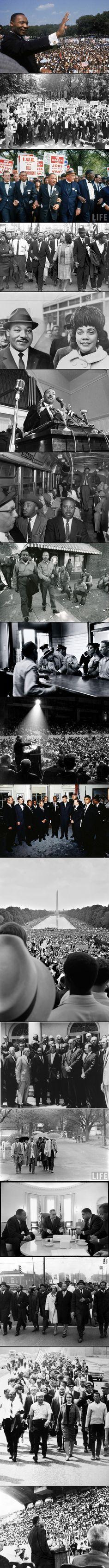Martin Luther King. (1929–1968) Foi um dos defensores da mudança social não violenta mais conhecidos do século XX. As excepcionais habilidades de oratória e valentia pessoal de King atraíram a atenção nacional inicialmente em 1955 quando ele e outros ativistas dos direitos civis foram presos após liderar um boicote de uma companhia de transportes de Montgomery, Alabama, por exigir que os negros cedessem os seus lugares aos brancos e ficassem de pé ou sentados na parte de trás do autocarro.