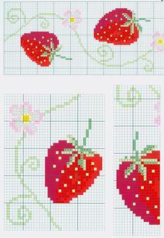 Gallery.ru / Фото #64 - Схемки - barhat03 Cross Stitch Fruit, Cross Stitch Kitchen, Cross Stitch Borders, Cross Stitch Charts, Cross Stitching, Cross Stitch Embroidery, Cross Stitch Patterns, Bead Loom Patterns, Crochet Stitches Patterns