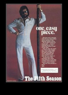 1970s Jumpsuit: 'The Ultimate Fashion Climax' Are you man enough to fill it?