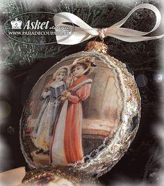 Hecho a mano adornos de Navidad - papel de recogida Asket Diseño