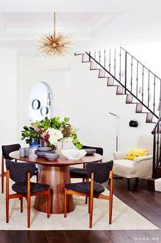 Erin Foster's LA Dining Room and Staircase