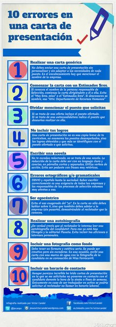 10 errores en una carta de presentación #infografia #infographic Spanish Teaching Resources, Writing Resources, Human Resources, Spanish Activities, Content Manager, Cv Inspiration, Le Cv, Ap Spanish, Learn Spanish
