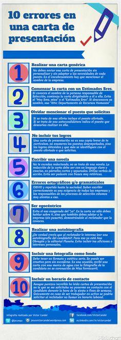 10 errores en una carta de presentación #infografia