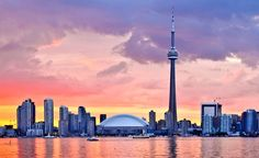 Toronto, Canada. The modern city of Toronto straddles the shore of Lake Ontario with its blocky downtown of skyscrapers and needle-nose CN Tower. The fifth largest city in North America, the diverse population creates a vibrant cultural scene with many culinary delights.