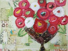 Christy Kenard Canvas- love the colors, and the layered textured background.