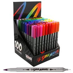 Super Markers 100 Unique Colors Fineliner and Brush Twin ...