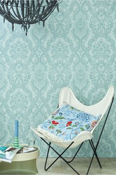 Pip Studio the Official website - Lacy Dutch wallpaper sea blue