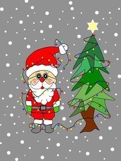 Playful Santa