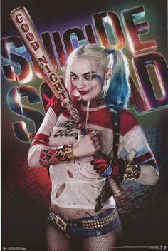 A fantastic poster of Margot Robbie as Harley Quinn from the DC Comics movie Suicide Squad! Fully licensed - 2016. Ships fast. 22x34 inches. Check out the rest of our amazing selection of Harley Quinn