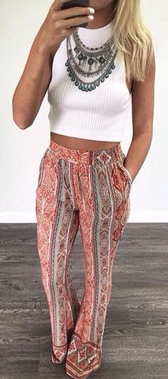 those pants and that statement necklace!