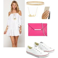 Untitled #123 by jaylajones1231 on Polyvore featuring polyvore fashion style Roxy Converse MICHAEL Michael Kors Kate Spade Minnie Grace