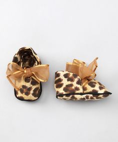 Brown Leopard Booties by Wiggy Studio on #zulily