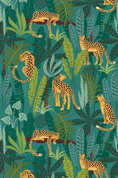 Jungle Cats / Botanical Print / Jungle / Safari / Nursery Wall Art/ Botanical Illustration/Jungle Print/Tropical Art/Cheetah/Panther/Leopard Source by InteriorDelux art Jungle Pattern, Motif Jungle, Jungle Art, Jungle Safari, Art And Illustration, Botanical Illustration, Illustrations, Pattern Illustration, Safari Nursery