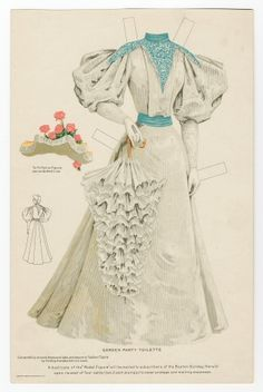 75.2215: Garden Party Toilette 1895  dress