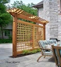 pergola inspired privacy barrier - Yahoo Image Search Results