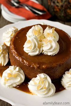 New England Pumpkin Caramel Pudding - An elegant and easy alternative to a traditional pumpkin pie!