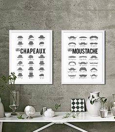 Two Modern Art Prints Pop Art Hipster Prints by CocoAndJamesHome
