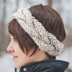 headband with i cord ties allfreeknitting com summer twirl headband ...