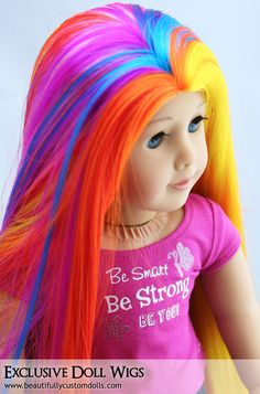 Rainbow American Girl Doll Wigs: Beautifully Custom Exclusive
