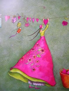 by ambrella design I have a few greeting cards created by this artist! I love her work!