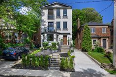 This house was a total labour of love, and it shows. Owned by an arts and entertainment reporter and a stonemason, the couple built the place from . Toronto Condo, Downtown Toronto, Big Windows, Arched Windows, New York Townhouse, Greater Toronto Area, Soaker Tub, Two Bedroom Apartments, Back Gardens