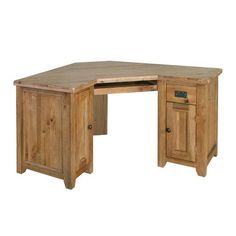 Cottage Oak Corner Computer Desk (J268) with Free Delivery | The Cotswold Company - RMK76