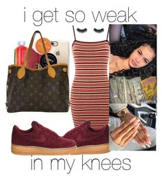 """""""i can hardly breathe ❤️🧡💛"""" by makaelahangelah on Polyvore featuring Topshop, NIKE, WtR, Casetify, Illamasqua and Louis Vuitton"""