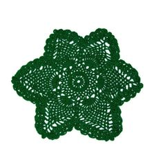 I made this doily with a medium green cotton crochet thread. Please note that the doily may apper neon on the screen but it is not actually neon