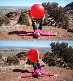 Ćwiczenie na piłce stabilizującej VIII