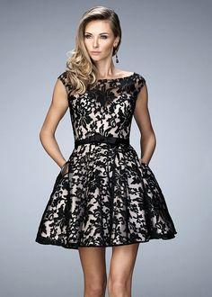 20908c038 La Femme 21876 Lovely Lace Bateau Neck Short Dress. 8th Grade Formal  DressesProm Dresses 2016Evening ...