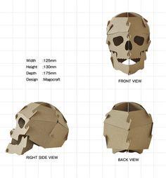 3d paper skull template art pinterest paper toys 3d paper and toy paper skull 3 maxwellsz