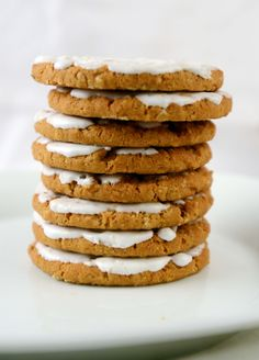 Iced Oatmeal Cookies #cookies #windmill #speculaas #dutch Dutch Cookies, Baking Cookies, No Bake Cookies, Oatmeal Cookies, Sweet Desserts, Windmill, Cookie Recipes, Fun Stuff, Sweet Tooth