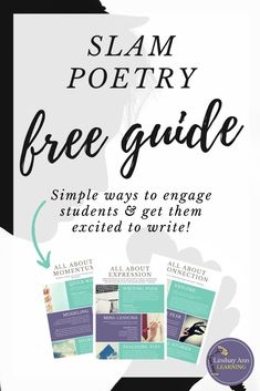 Teaching slam poetry doesn't have to be boring! These 12 slam poetry ideas will help your middle school and high school students ROCK slam poetry. High School English, English Class, English Teachers, Poetry Unit, Writing Poetry, Teaching Poetry, Teaching Writing, Student Teaching, School Teacher
