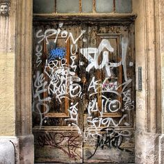 Tagged Door in Montpellier (France)
