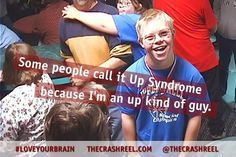 Maybe the real star from #TheCrashReel: Kevin Pearce's brother David who suffers from Down Syndrome.