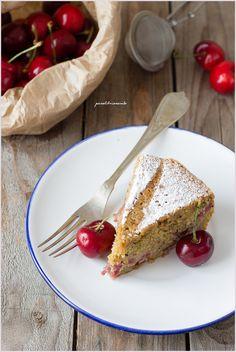 Cherries Pistachio Cake