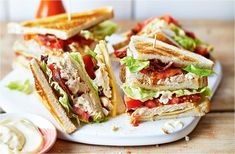 Clubhouse Sandwich, National Sandwich Day, Commercial Cooking, Chicken Club, Chicken Sandwich Recipes, Tofu Recipes, Recipe Chicken, Chicken Salad, Easy Recipes