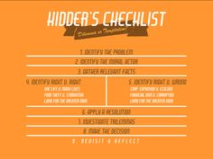 Kidder's Checklist - visual reference to the theory behind Kidder's process for dealing with ethical dilemmas. Code Of Ethics, Reflective Practice, Early Intervention, Greater Good, One Life, Decision Making, Higher Education, Theory