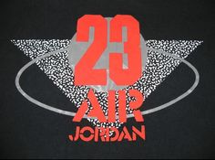 AJ 3 - Black colour range Tee  1988 Grey tag