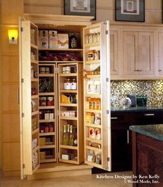 kitchen cool wooden storage pantry kictehen storage. Black Bedroom Furniture Sets. Home Design Ideas