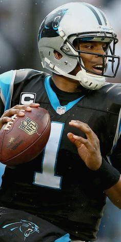 Cameron Jerrell Newton  (born May 11, 1989) is an African  American football player and quarterback for the Carolina Panthers of the National Football League. In 2015, Newton became the first quarterback in NFL history to throw for 30 touchdowns and rush for 10 in the same season (35 passing, 10 rushing). He also became the only quarterback ever to have 300 yards passing, 5 touchdown passes and over 100 yards rushing in the same game.