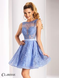 Clarisse Short Vintage Lace Prom Dress 3147 | Promgirl.net