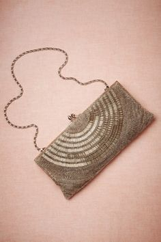 Deco Beaded Clutch in Bride Bridal Accessories at BHLDN
